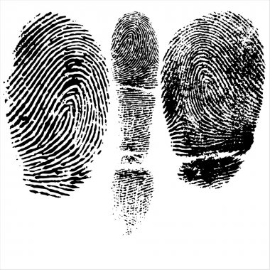Thumb and finger print