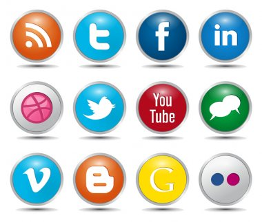 Color Social Media Icons