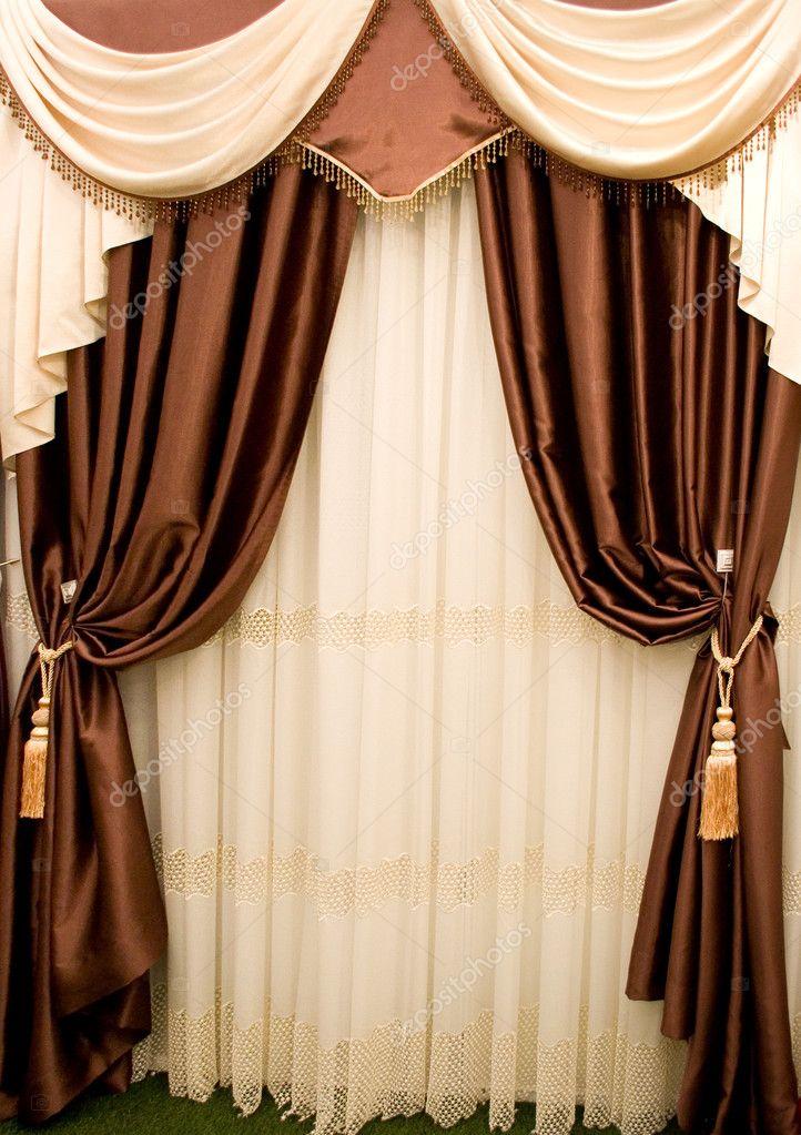 bruine gordijnen — Stockfoto © 85cornelia #9068868