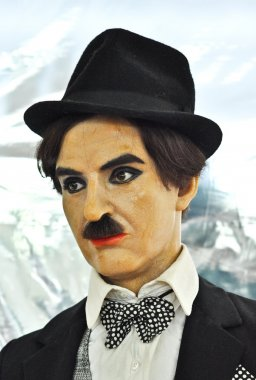 Wax statue of Charles Chaplin