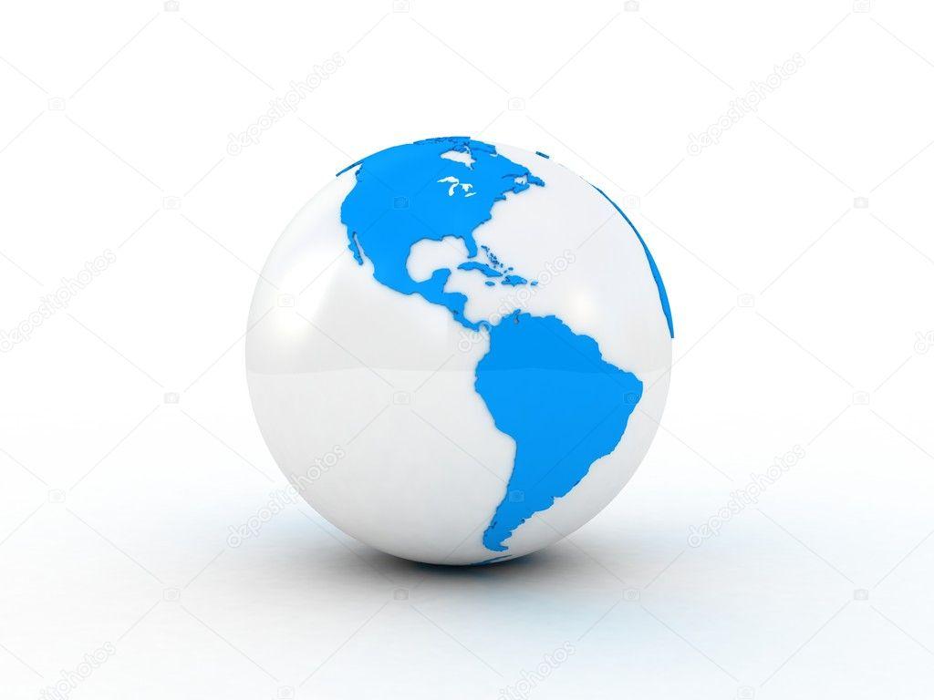 Schön Weltkugel 3d Referenz Von — Stockfoto