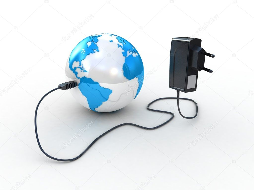 Travel adapter and globe