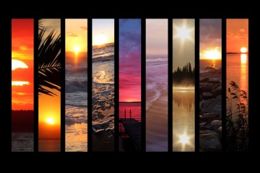 Sun set collage