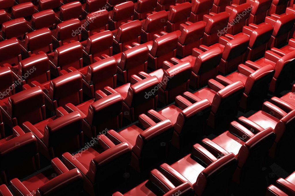 Cinema Auditorium Interior 3D render — Stock Photo