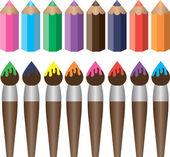 štětce a tužky