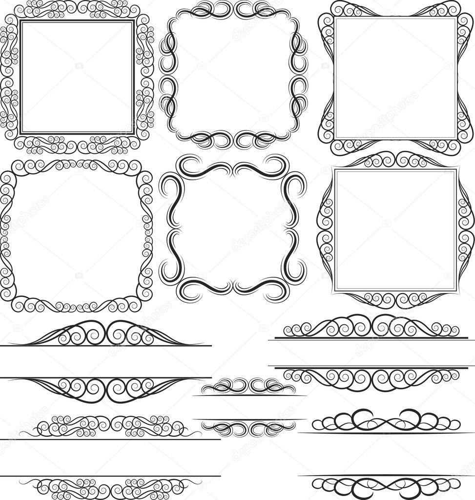 Ränder und Rahmen — Stockvektor © mtmmarek #10505335
