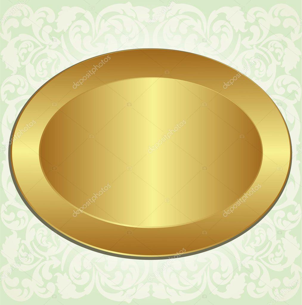 Gold oval frame — Stock Vector © mtmmarek #10713546