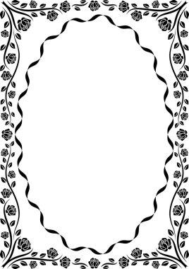 Silhouette frame roses