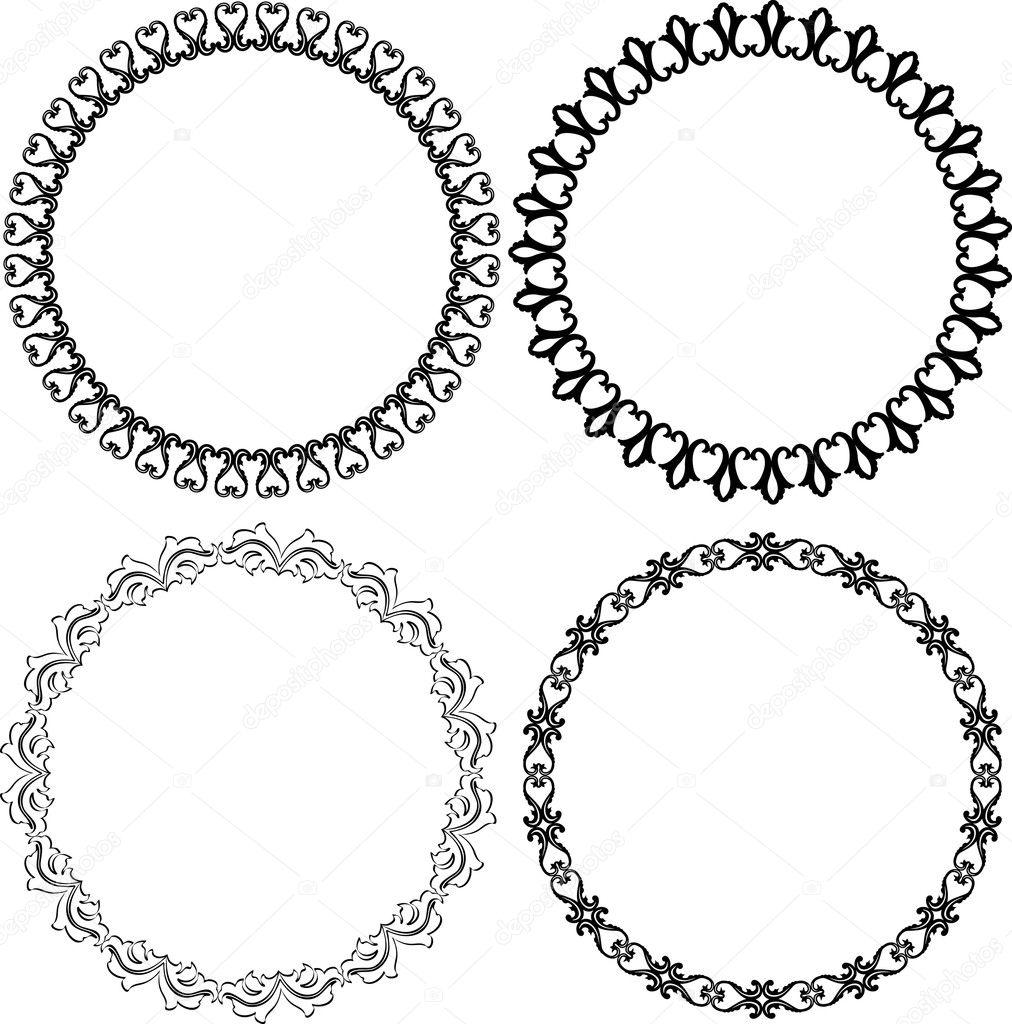 set of decorative round frames vector by mtmmarek