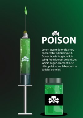 Poison Syringe and Poison Container