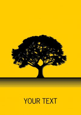 Tree with Yellow background