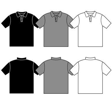 Vector men's T-shirt men's polo.