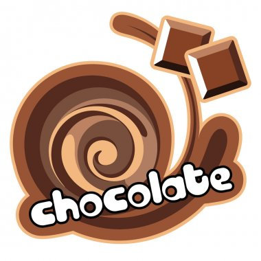 Chocolate background for design of packing.