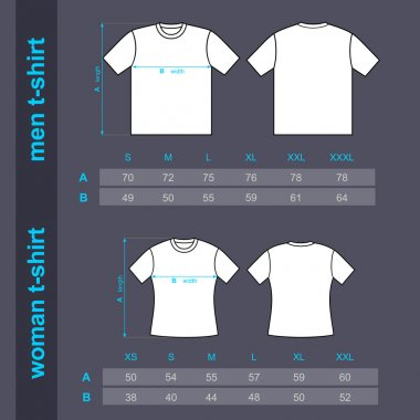 T-shirt men and woman.