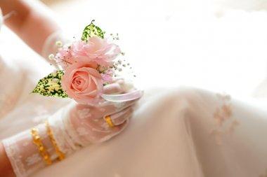 Romantic Rose in bride's hand