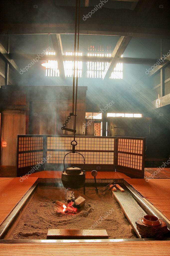 Japanischen Stil Teekanne Und Erstaunliche Lichtstrahl In Japan