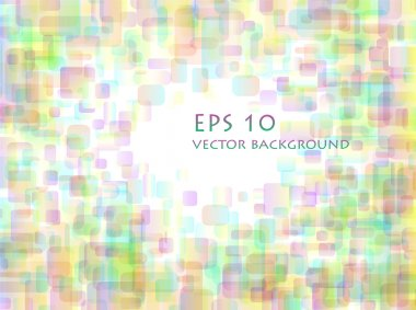 Pastel overlapping rounded rectangle background