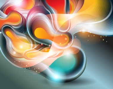 Abstract background with transforming forms. Vector illustration