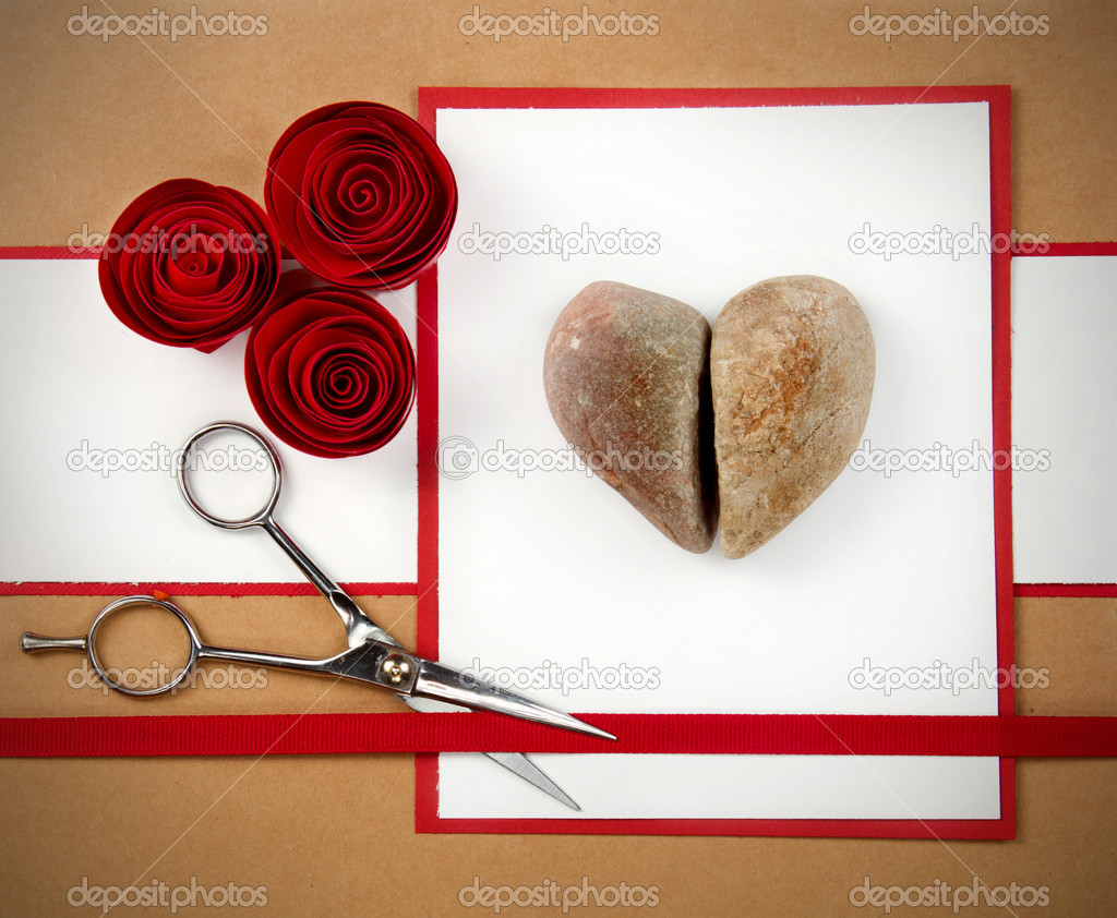 Rock, paper and scissors valentine