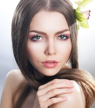 Purity and sexiness - skin care beauty concept