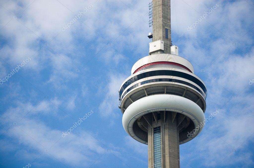 Close up of Toronto CN Tower