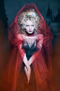 Glamorous blonde girl
