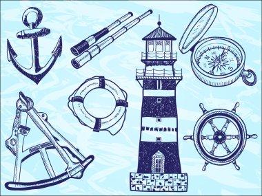 Nautical collection - hand-drawn illustration