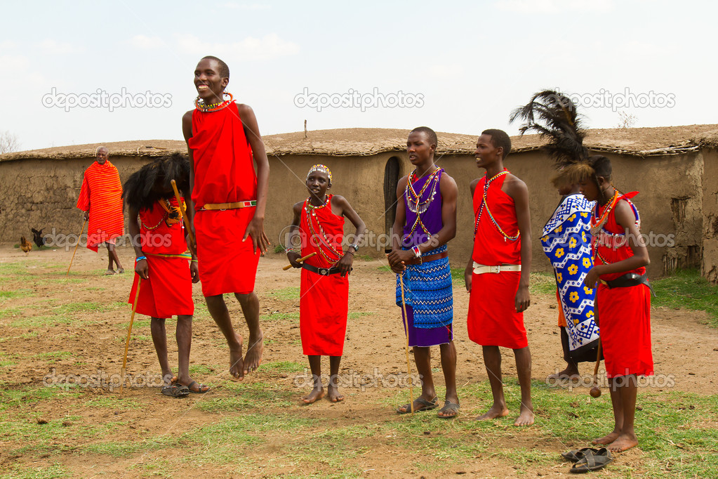 A group of kenyan of Masai tribe