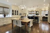Fotografie Kitchen with white cabinetry