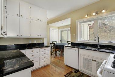 Kitchen with adjacent breakfast room