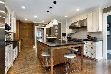 Modern kitchen with center island