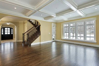 Family room with foyer view