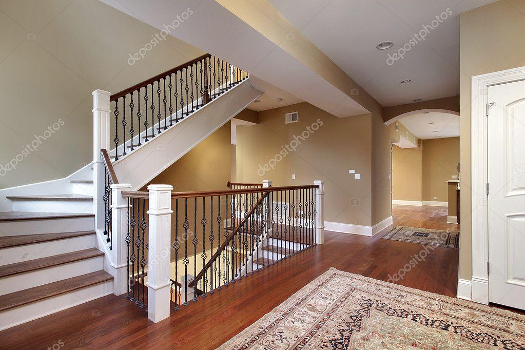 foyer with cherry wood floors stock photo lmphot 8657578