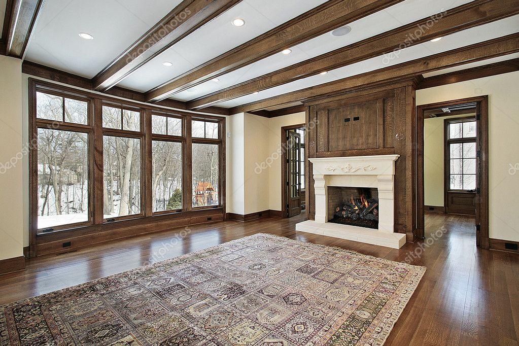 Familiekamer met houten balken u2014 stockfoto © lmphot #8658473