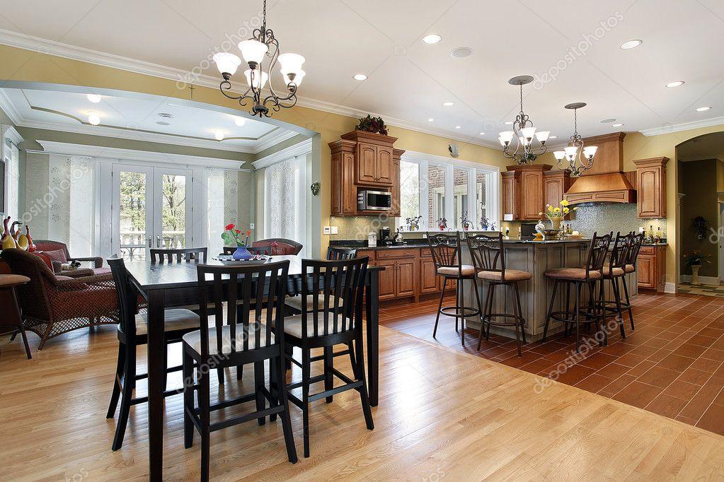 cucina con salotto — Foto Stock © lmphot #8670490