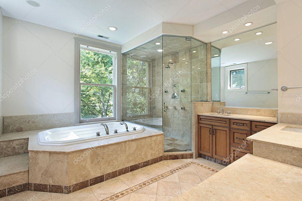 Master bath with step up tub — Stock Photo © lmphot #8677967