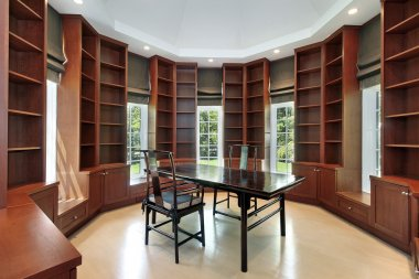 Library in new construction home