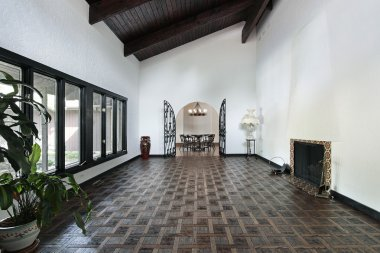 Living room with parquet floor