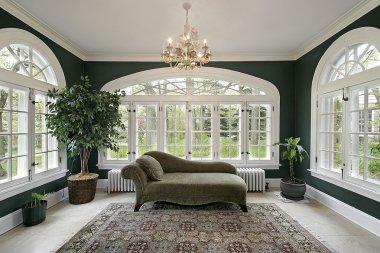 Sun room in luxury home