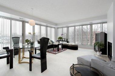 Living room in upscale condo