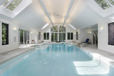 Large swimming pool in luxury home