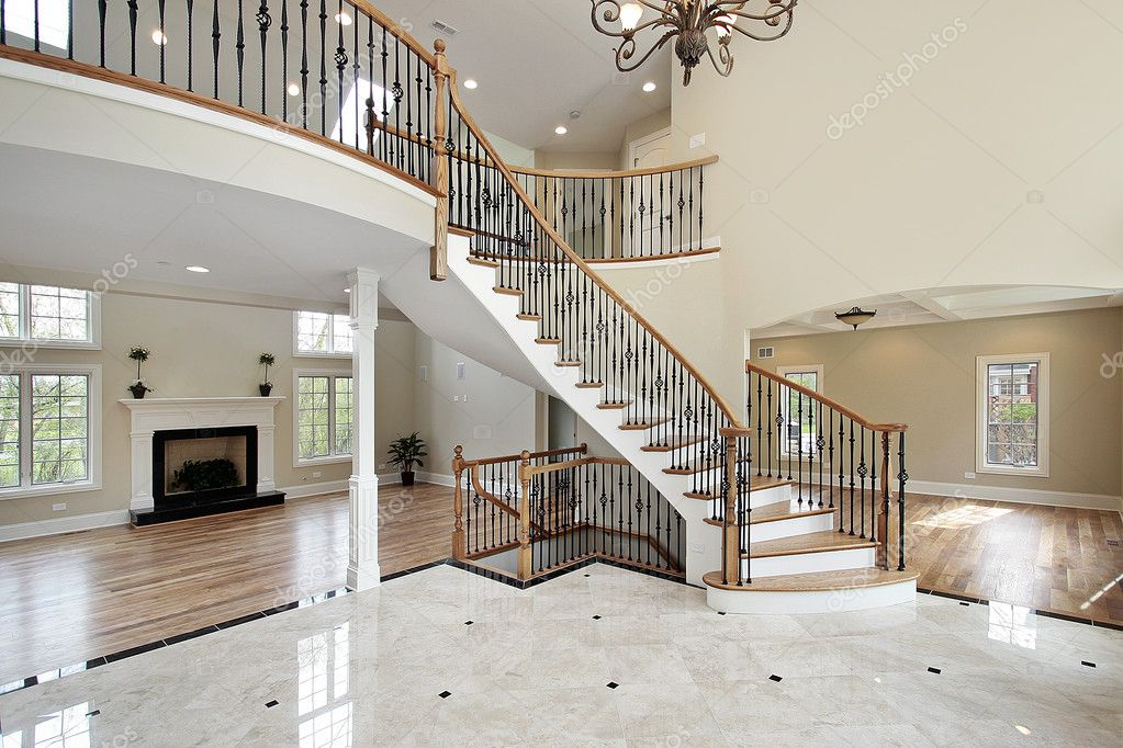 Foyer And Circular Staircase Stock Photo Lmphot 8682164