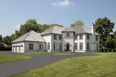 Luxury home with three car garage