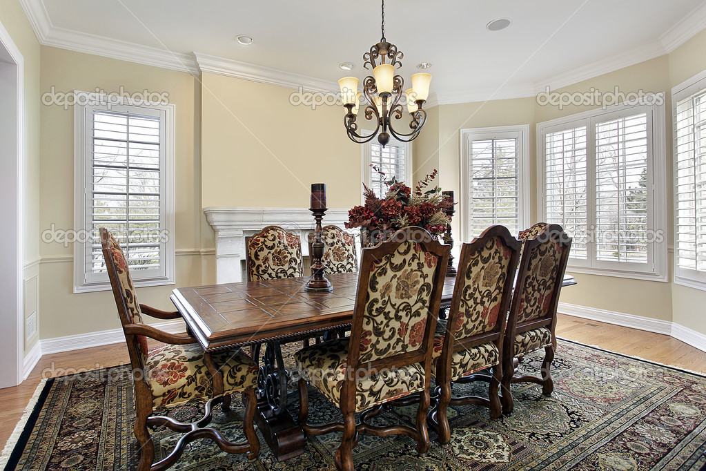 dining room with cream colored walls — stock photo © lmphot #8690001