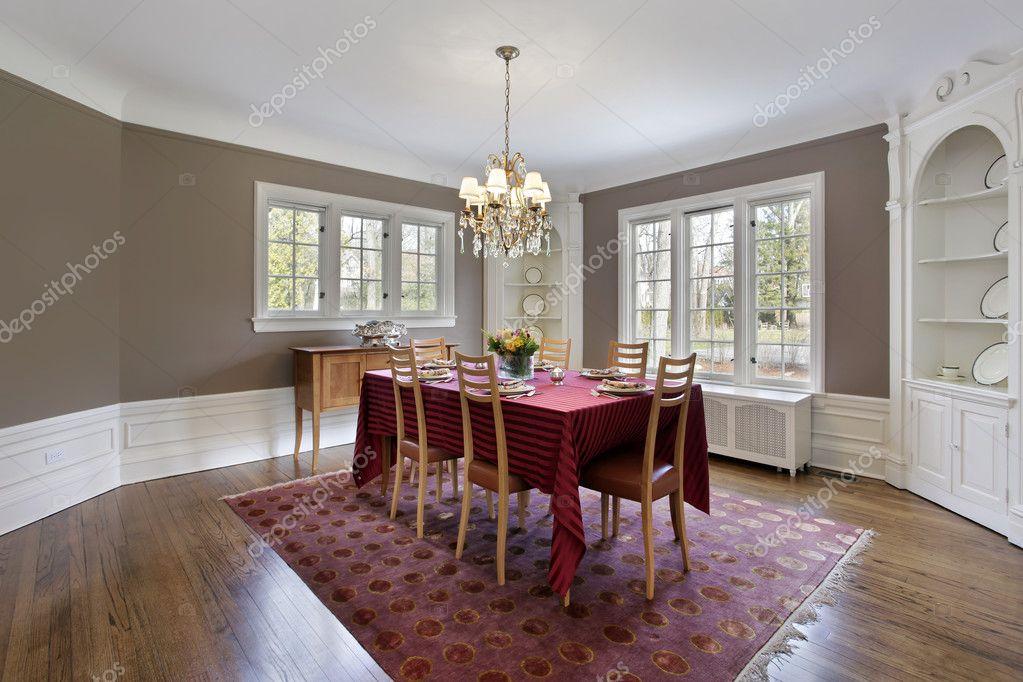 salón comedor con armarios empotrados — Foto de stock © lmphot #8690097