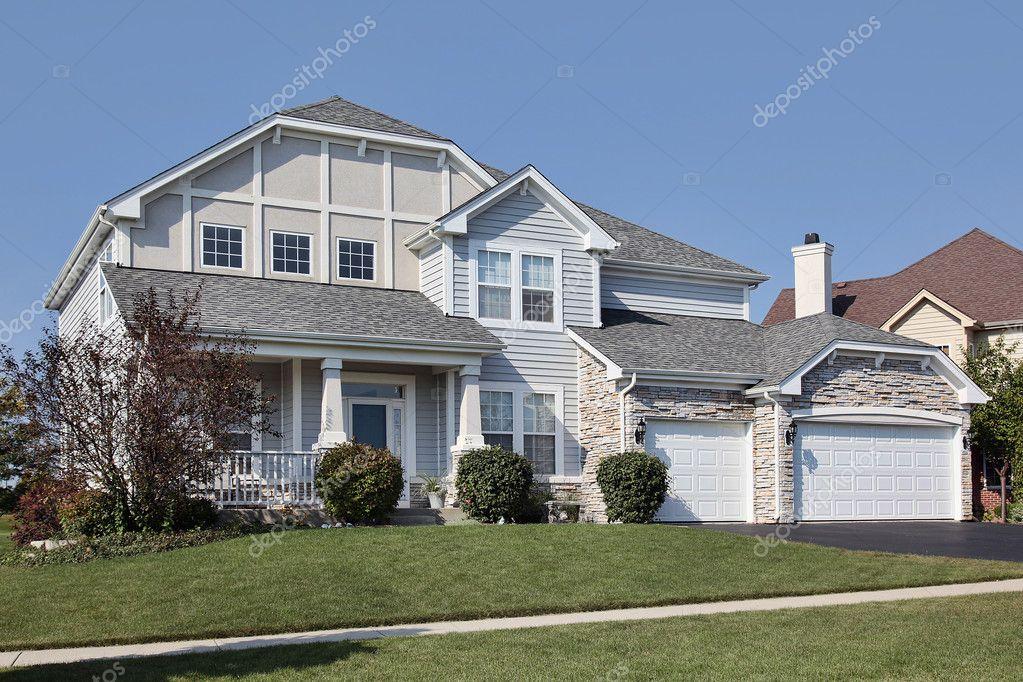 Huis met veranda u stockfoto lmphot