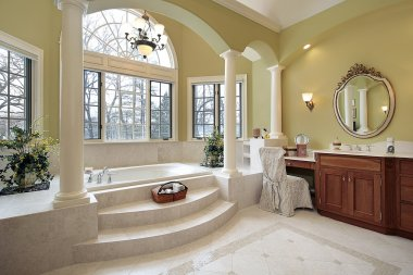 Master bath with columns