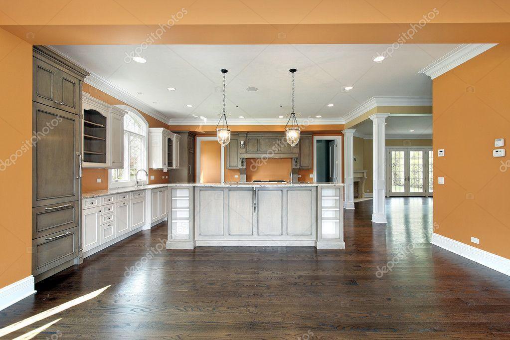 cuisine avec murs orange — Photographie lmphot © #8701530