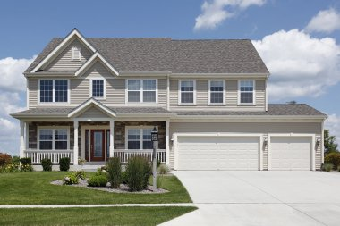 Suburban home with double garage