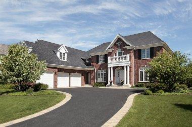Luxury brick suburban home